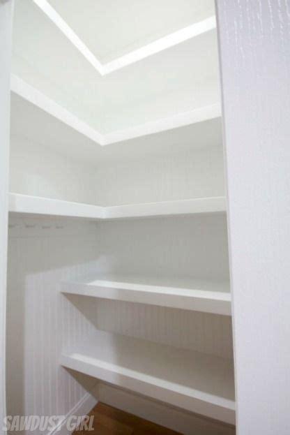 Hall Closet with Floating Shelves   Deep closet, Floating