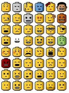 How Do You Feel Today Faces Chart Simple Black And White Clipart Lego Minifigures Outline
