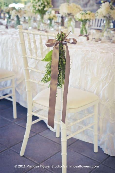 Pretty Chair Decor For Some Seats Maybe Wedding Party And
