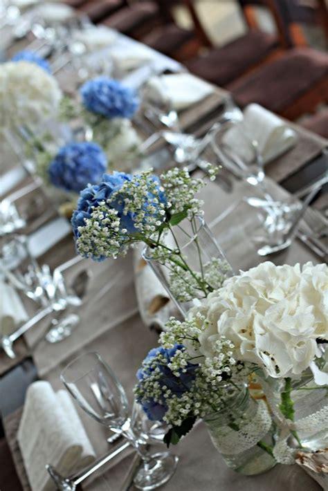 blumenschmuck hochzeit hortensien die besten 25 blaue hochzeitsblumen ideen auf marine hochzeit blumen immergr 252 nes