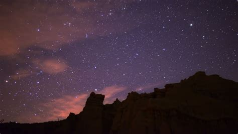 Milky Way Galaxy 61 R Timelapse Mojave Desert Red Rock