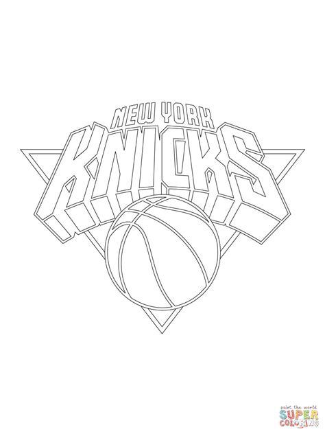 Kleurplaat Nyc by New York Knicks Logo Coloring Coloring