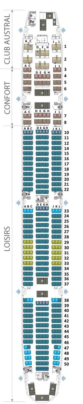 air austral reservation siege plan intérieur du boeing 777 300 er