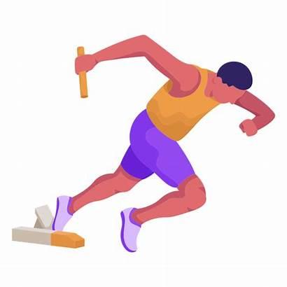 Atletismo Atleta Plano Transparent Flat Svg Correndo