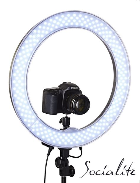 ring light for video socialite 18 inch led photo video ring light kit for