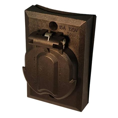 outdoor l post with outlet design house black replacement electrical outlet for l