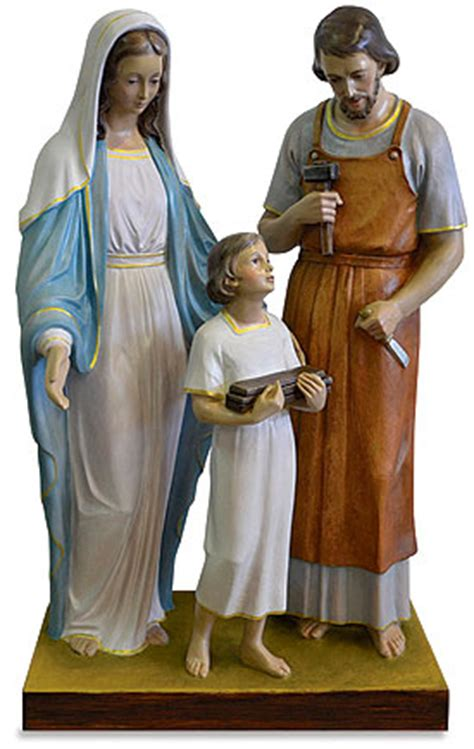 white holy family statue