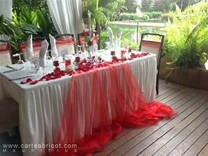 Deco Mariage Rouge Et Blanc Pas Cher : mariage en rouge et blanc decoration mariage pinterest mariage wedding and centerpieces ~ Dallasstarsshop.com Idées de Décoration