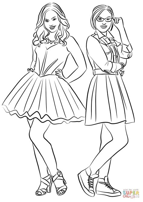Kleurplaat Descendants by Liv And Maddie Coloring Page Free Printable Coloring Pages