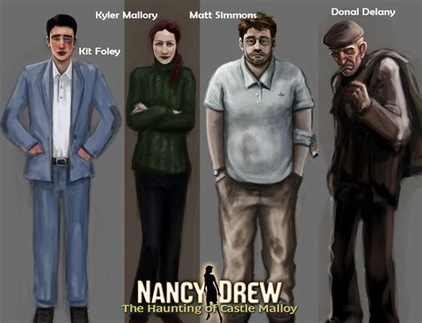 Characters From Nancy Drew The Haunting Of Castle Malloy