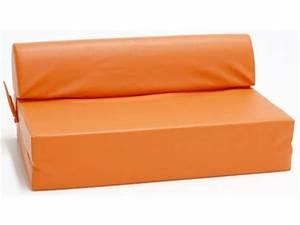 Lit D Appoint 2 Places : chauffeuse 2 places skiline orange ~ Teatrodelosmanantiales.com Idées de Décoration