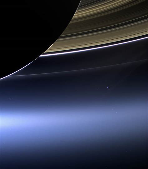 Scientists Show Off Earth Moon Seen From Saturn
