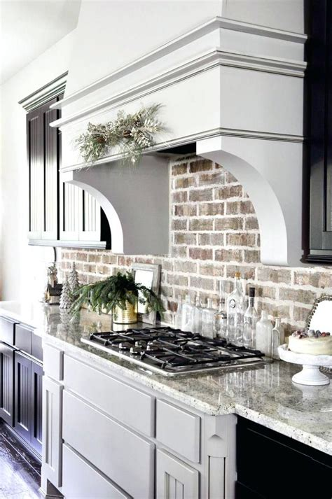 backsplash brick tile kitchen brick  rustic ideas