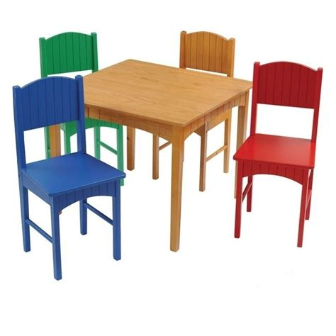 Office Supplies Nantucket by Kidkraft Nantucket Table And 4 Chair Set In Primary 26121