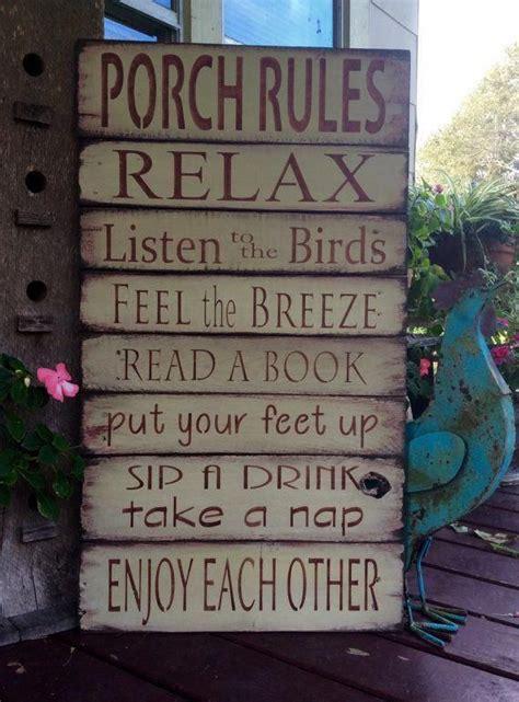 porch rules sign pallet sign rustic sign muebles de