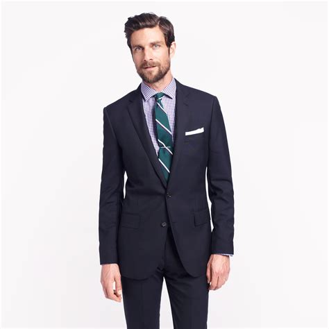 jcrew ludlow classic suit pant  italian wool  blue  men navy lyst