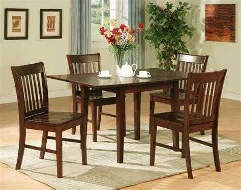 Kitchen Furniture Sets 5pc Rectangular Kitchen Dinette Table 4 Chairs Mahogany Ebay