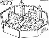 Coloring Pages Building Print City5 Coloringway sketch template