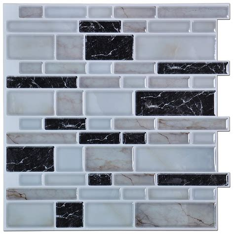 Peel And Stick Tile In Bathroom by Art3d Peel And Stick Kitchen Or Bathroom Backsplash Tile