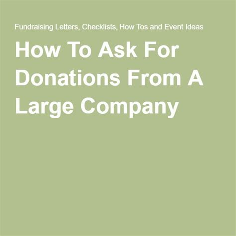 Colleges and universities couldn't survive without donations. How To Ask For Donations From A Large Company   Off campus ...
