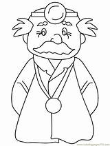 Coloring Pages Doctor Doctors Woman Colouring Surgeon Popular Coloringpages101 Adults Library Clipart Coloringhome sketch template