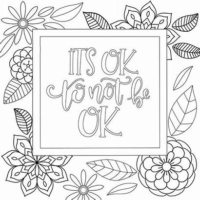 Coloring Inspirational Pages Adult Printable Motivational Zentangle