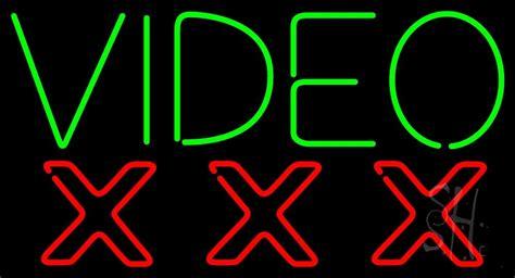 video triple  neon sign strip club neon signs
