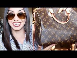 What's in My Bag + Louis Vuitton Speedy 30 Review - YouTube