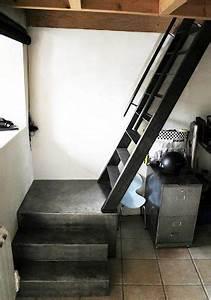 Echelle Pour Escalier : id e configuration escalier pour acc s aux mezzanine ~ Melissatoandfro.com Idées de Décoration