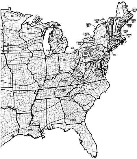 Kentucky Frost Line Depth Map