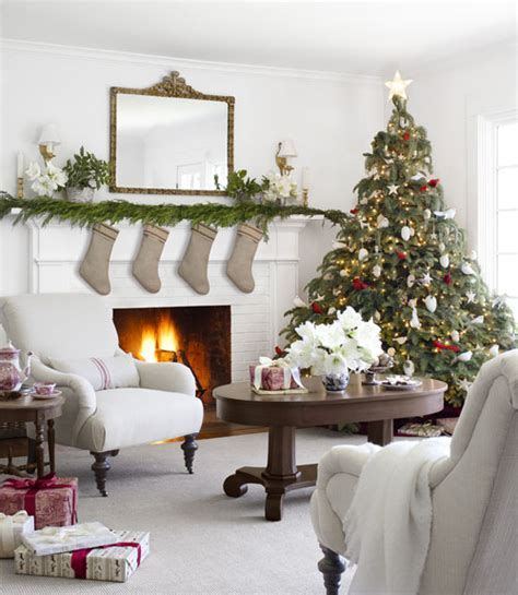 beautiful white christmas living room pictures