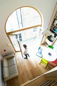 Double, Height, Living, Space, And, Curved, Window, For, The, Studio, By, Bradley, Van, Der, Straeten