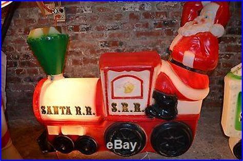 empire santa train north pole indoor outdoor lighted blow