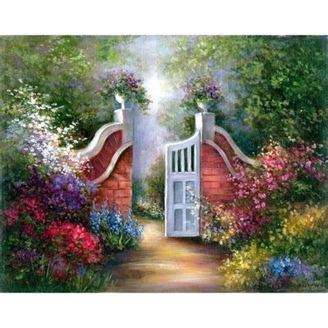Acrylic Paint Art Kit On Canvas Garden Gate