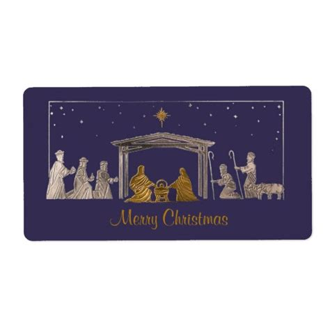 religious christmas gift tags label shipping label zazzle