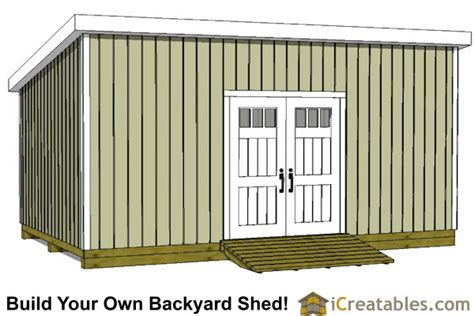 12x24 Shed Plans Materials List by 12x24 Lean To Shed Plans Build A Large Lean To Shed