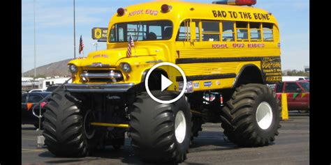 bad to the bone monster truck video imagine your kids riding in this monster bus