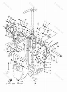 Yamaha Outboard Parts By Year 2003 Oem Parts Diagram For Bracket 1