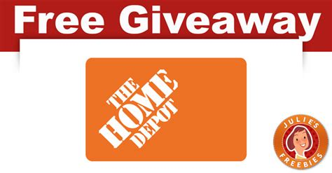 The home depot offers two business credit cards: Home Depot Great Giveback Sweepstakes - Julie's Freebies