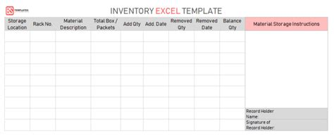 excel inventory template  inventory excel spreadsheet