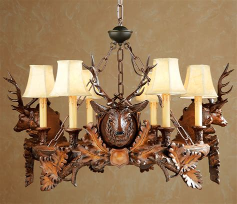 Chandelier Forest by Rustic Chandeliers Black Forest Stag Chandelier Black