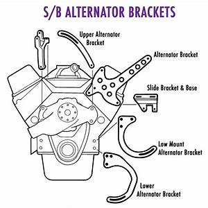 New Bill U0026 39 S Hot Rod Sbc Chevy Chrome Alternator Bracket For