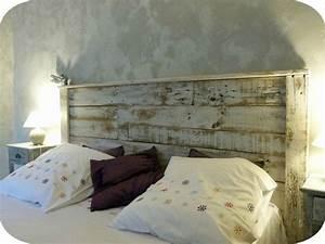 Fabriquer Un Banc D Interieur : t te de lit en bois recycl madame ki et ses vintageries ~ Melissatoandfro.com Idées de Décoration
