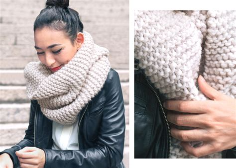 how to knit a scarf style trends chunky knit scarves sheep and stitch