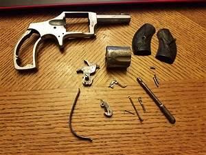 Old Spur Trigger Revolver Completely Dissassembled