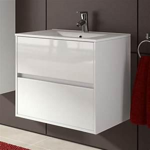 Meuble salle de bain 70 cm 2 tiroirsvasque porcelaine for Meuble salle de bain 70