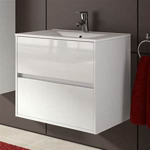 meuble salle de bain 70 cm 2 tiroirsvasque porcelaine With meuble lavabo salle de bain profondeur 35 cm