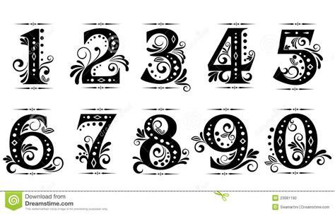 vintage number font  images vintage number fonts
