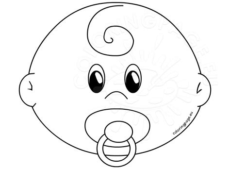 Baby Kids Template by Baby Face With Pacifier Template Coloring Page