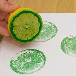 Sommer Basteln Kinder : es muss nicht immer kartoffeldruck sein auch mit grapefruit oder zitronen geht das ~ Orissabook.com Haus und Dekorationen
